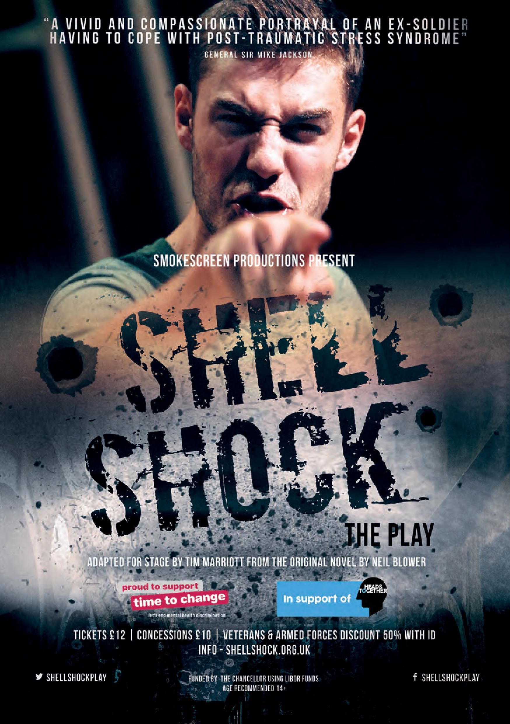 Shell Shock the play flyer