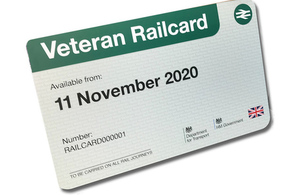Veterans Railcard ticket image