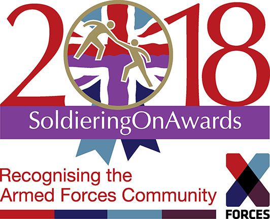 Soldiering On Awards and X-Forces joint logo
