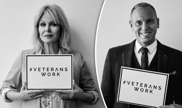 Veterans Work Celebrity Ambassadors, Joanna Lumley and Judge Rob Rinder